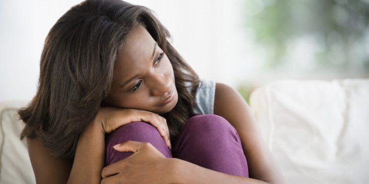 Image result for black lady been depressed