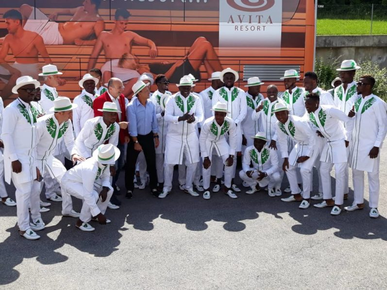 Image result for Super Eagles land in Russia