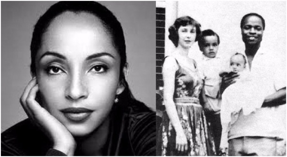 Sade Adu with her family