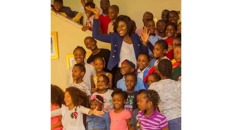 Image result for Ex-BBNaija star mentors over 100 kids on etiquette