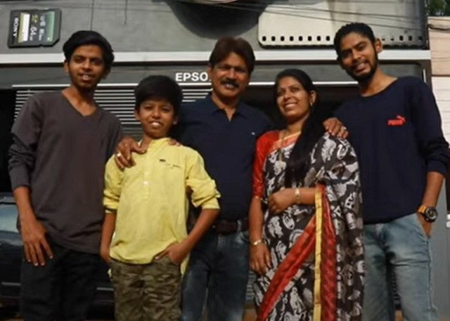 Ravi Hongal and his family