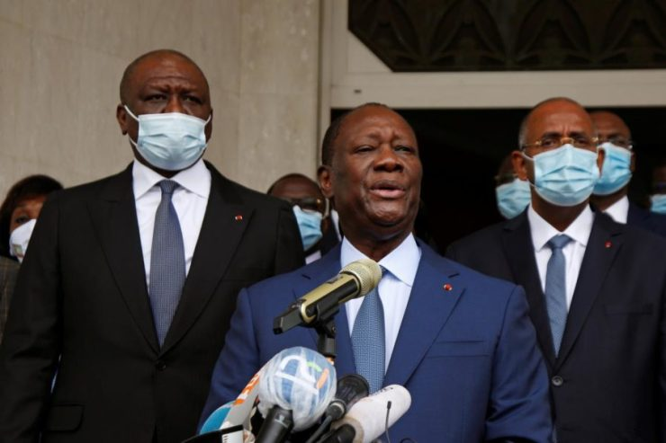 Ivory Coast president seeks third term in tense vote