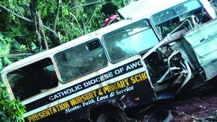 How 21 pupils, others die as school bus, trailer collide in Enugu