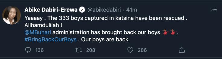 Abike Dabiri-Erewa tweet