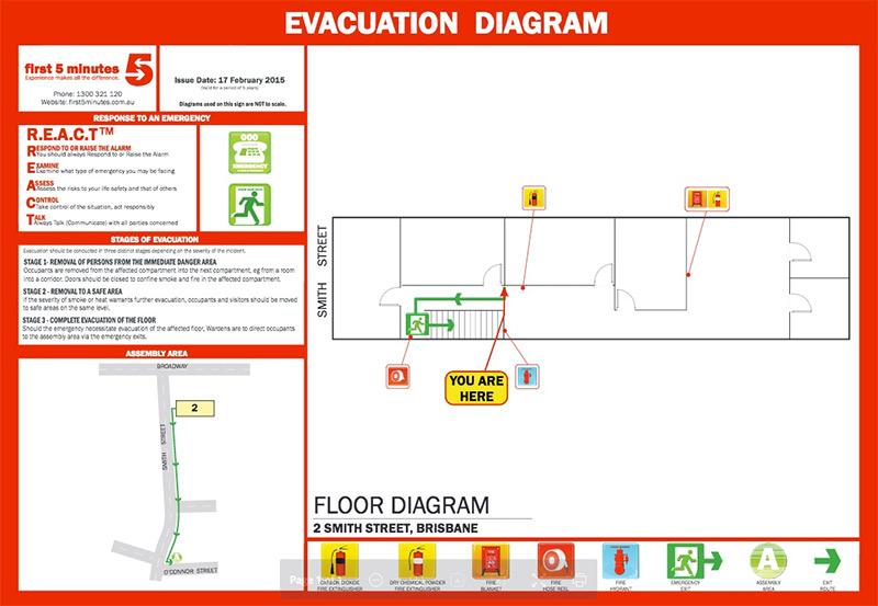 Guardian First Aid Fire Emergency Evacuation Diagrams Guardian First Aid Fire