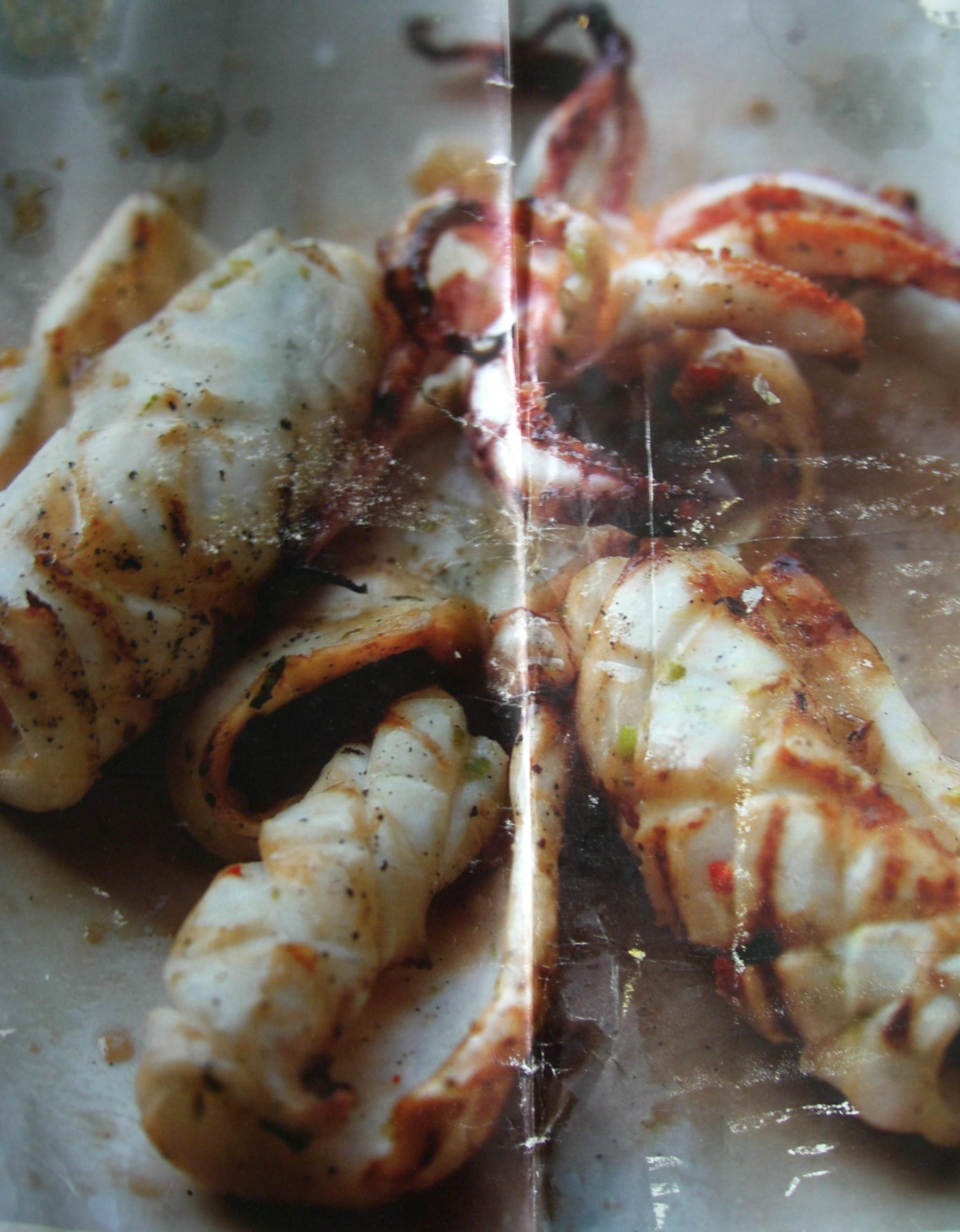 Marinated squid