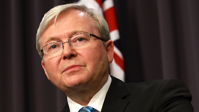 Kevin Rudd , Australian Prime Minister says Economy Key Issue in Election