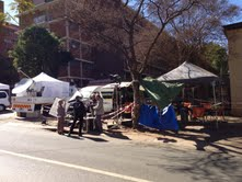 Media camped outside Mandela's Pretoria hospital