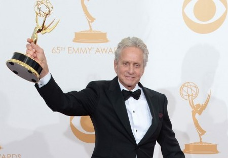 Michael Douglas's Emmy Shout Out to His Breaking Bad Son (Video)