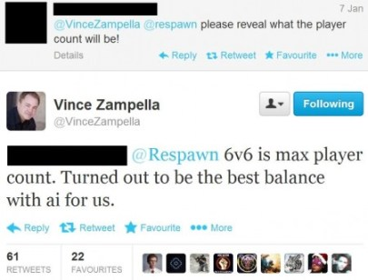 Player count in Titanfall revealed by Vince Zampella
