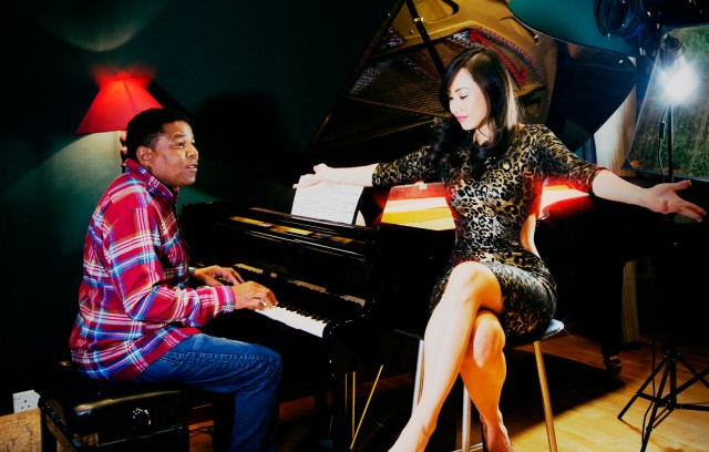 Tito Jackson and Ayi Jihu in London Studio Recording New Song