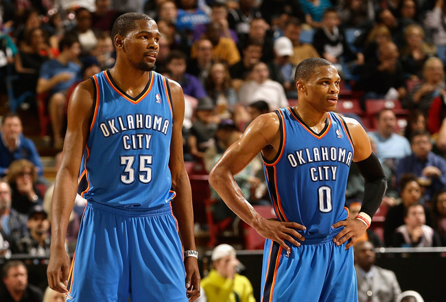 Oklahoma City Thunder NBA Kevin Durant Russell Westbrook