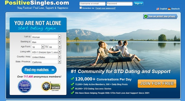 PositiveSingles.com is the #1 STD dating site
