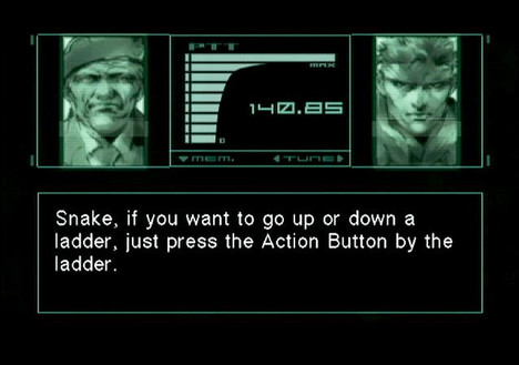 Video Game Tutorials Bad Good Metal Gear Solid