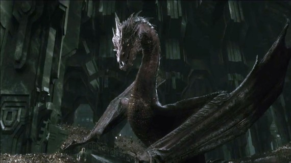 'The Hobbit' Dragon Smaug With No Visual Effects [Video]