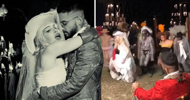Madonna Clinging to Younger Stars for Relevancy Married Maluma in New Video