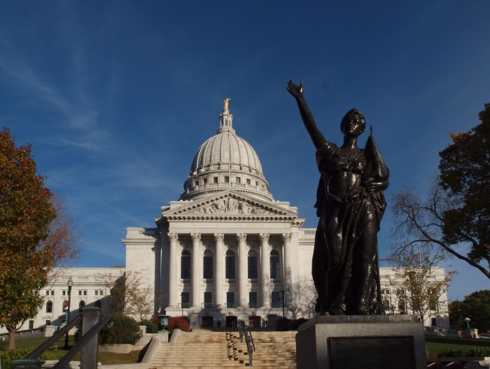 Wisconsin Protests Turn Violent as State Senator Is Attacked and Statues Are Pulled Down