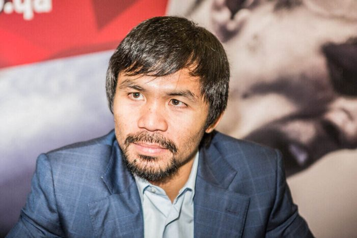 Manny Pacquiao Boxer-Senator Plans to Run for Philippine President