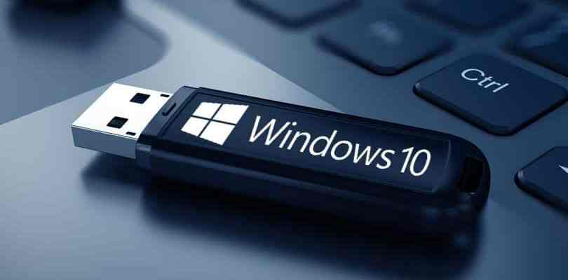 USB de arranque de Windows 10