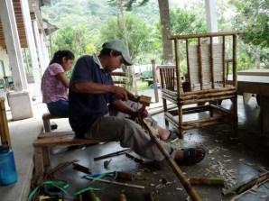 making bamboo furniture