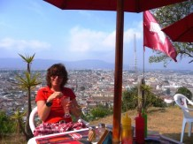 view of Xela from Swiss 'mountain' restaurant