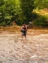 Margit crossing the river