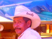 Cowboy with a label