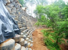 a monster retaining wall