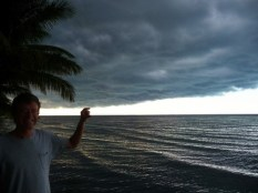 before thunder storm