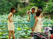 girls at the lotus pond