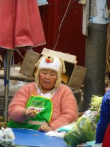 Madame Knorr has a funny hat