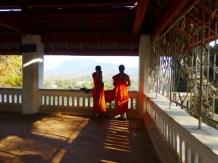 monks enjoying the view