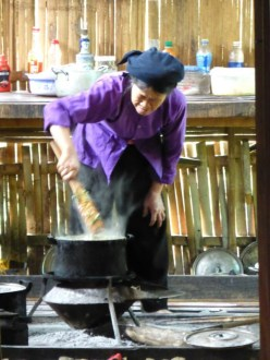 yummy food cooked in a traditional kitchen
