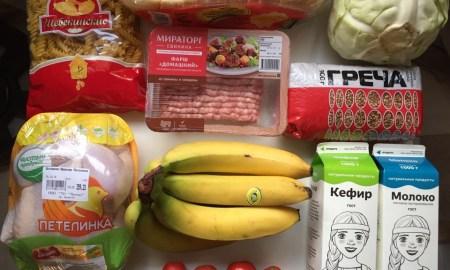 Продукты на неделю корзина еда выжить на 100 рублей