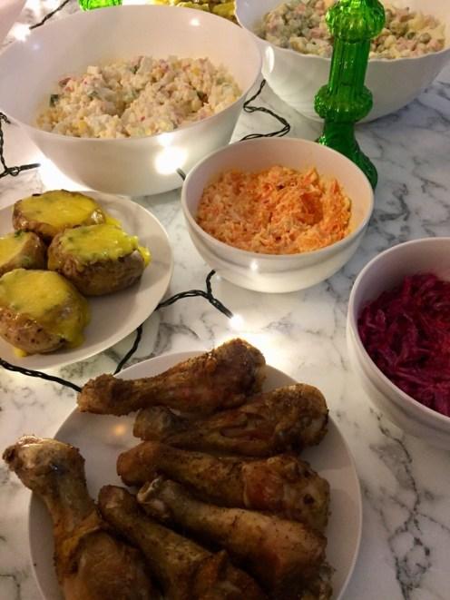 новый год, стол на 500 рублей, бюджетный новый год, Оливье, Крабовый, год свиньи, праздничный стол, бюджетный праздник