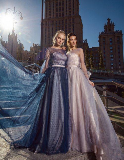 выпускное платье, в пол, розовое, синее, платье на выпускной, бил, выпускница, наряд, купить, петрозаводск, студия, ле рина, le rina