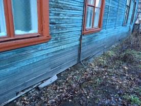 Аварийный дом на ул. Промышленной. Фото: из личного архива Потехиных