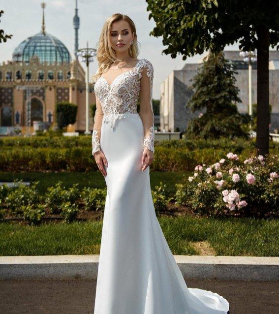 свадебное платье, по фигуре, прямое, белое, ле рина, le rina, петрозаводск, студия, купить, дзержинского