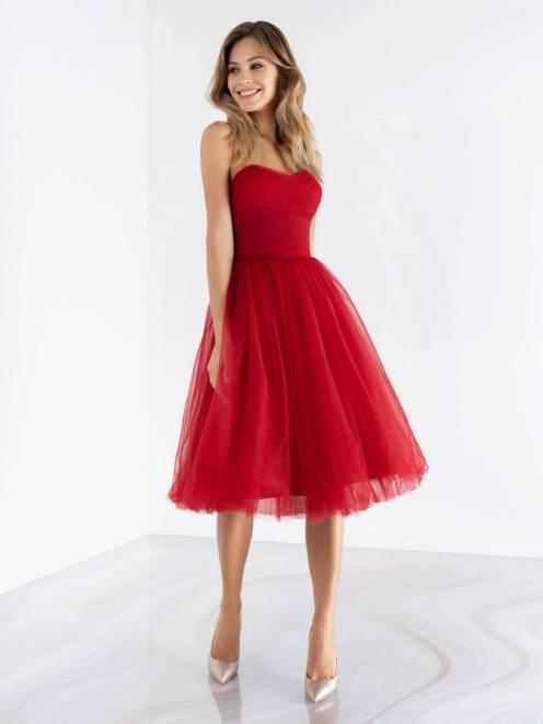 выпускное платье, красное, коктейльное, пышное, платье на выпускной, бил, выпускница, наряд, купить, петрозаводск, студия, ле рина, le rina