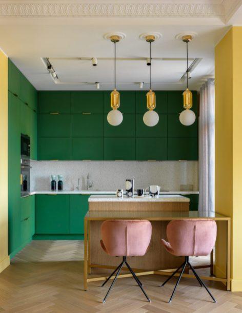 кухня, зеленый, интерьер, тренды, 2020, ремонт, дизайн, мода, 10 трендов
