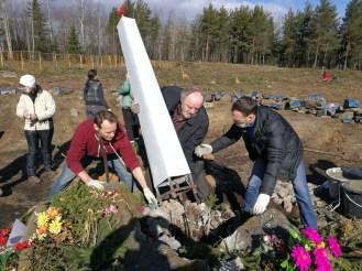 Восстановление памятника Яше Степанову. Фото: Губернiя Daily