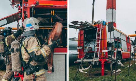 тгк, тренировка, пожарная безопасность, пожаробезопасность, петрозаводская тэц