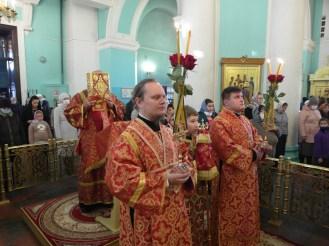 На литургии в соборе Александра Невского. Фото: Карельская епархия