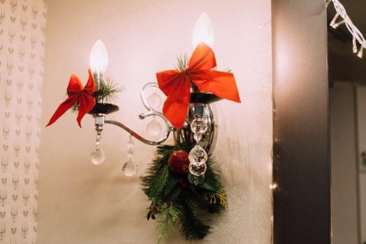 лампочка, бра, рождественское, украшение, банты, эстель, мон плезир, mon plaisir, империя стиля, петрозаводск, салон красоты, новый год, сертификат, идея подарка, подарочный сертификат