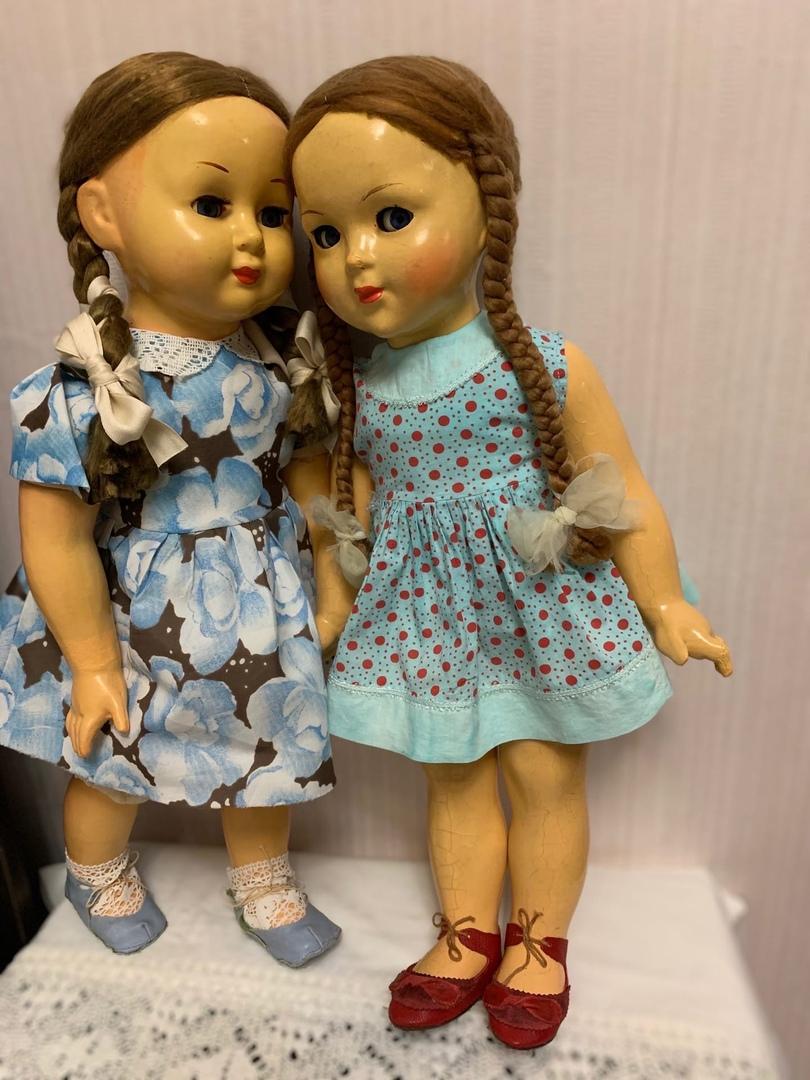 винтажные куклы прессопилочные