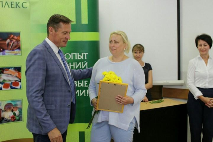 Владимир Лабинов и Ирина Фигурова вручение сертификата гранта