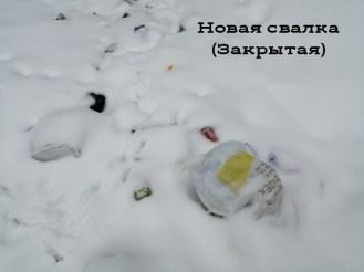 Мусор в снегу