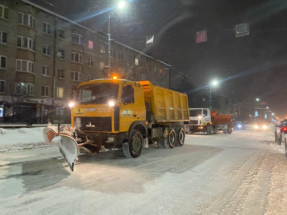 Уборка снега в Петрозаводске