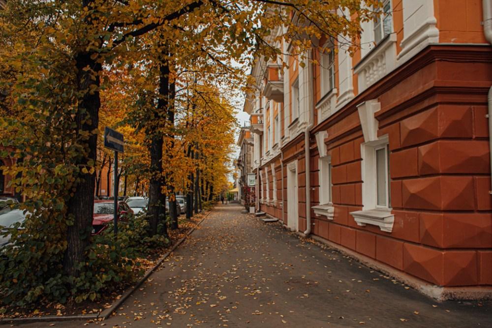 улица дзержинского, осень ,петрозаводск
