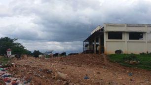 Suasana lokasi di sekitar TPA regional Kota Solok